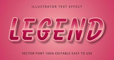 legendärer rosa metallischer Texteffekt vektor