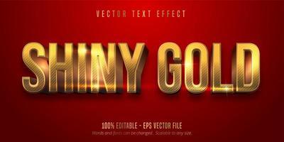 röd färg och glänsande redigerbar text i guldstil