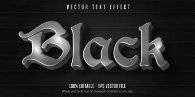 gotischer Texteffekt auf schwarzem hölzernem Hintergrund vektor