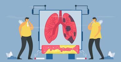 kronisk obstruktiv lungsjukdom eller copd vektor