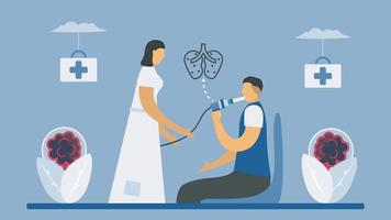 spirometritest som mäter lungfunktion vektor