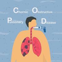 design av kronisk obstruktiv lungsjukdom vektor