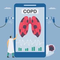 kronisk obstruktiv lungsjukdom app vektor