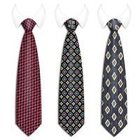 mäns geometriska slipsuppsättning vektor