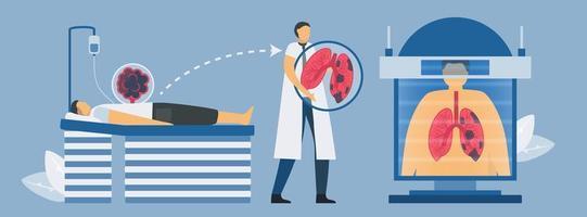 ct-skanningssystem för test av lungsjukdomar vektor
