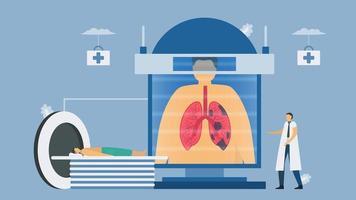 CT-Scansysteme für chronisch obstruktive Lungenerkrankungen vektor