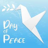 Taube im Origami-Stil für den internationalen Tag des Friedens vektor