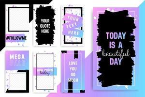 trendige Mode-Farbverlaufsvorlage für Geschichten und Streams