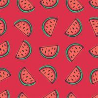 nahtloses Muster der Wassermelone im Cartoon-Stil vektor