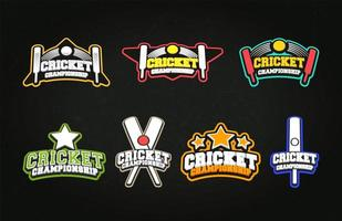 Cricket Sport Embleme vektor