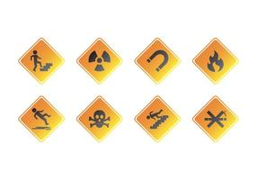 Kostenlose Warnzeichen Icon Vektor