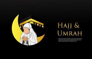 Hadsch Mabrour und Umrah Design-Vorlage