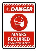 Über dieses Punktzeichen hinaus sind rote Masken erforderlich vektor