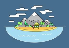 Surf Shack Berg Vektor-Illustration