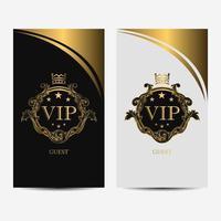 Schwarz-Weiß-VIP-Premium-Luxus-Kartenset vektor