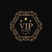 VIP Premium Luxus Abzeichen vektor