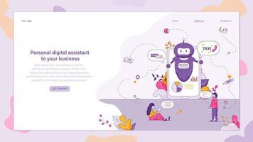 Online-Chat-Unterstützung Smart Chatbot, Sprachsteuerung