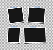 uppsättning tomma fotoramar vektor