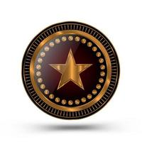 sheriff stil guldmedalj design vektor