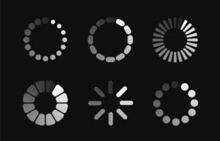 uppsättning lastning ikoner
