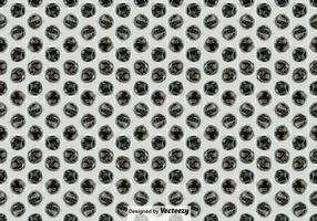 Bubbla Wrap Seamless Pattern Vector Bakgrund