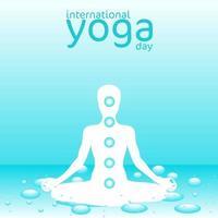 internationell yogadagaffisch med vattentema