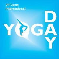 internationell yoga dag blå affisch