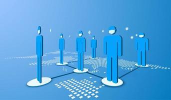 soziale Distanzierung der öffentlichen Gesellschaft vektor
