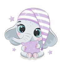 söt baby elefant