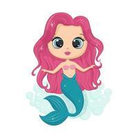 kleine süße Meerjungfrau. vektor