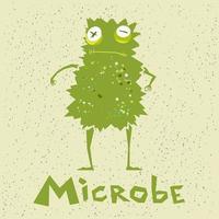 lustige Mikrobe im Cartoon-Stil