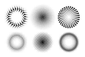 Kreis Halbtonpunktelement vektor