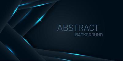 dunkle Winkelschichten mit neonblauen Lichtern vektor