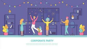 företags medarbetares semesterfest