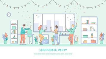 Corporate Mitarbeiter Urlaub Party Banner