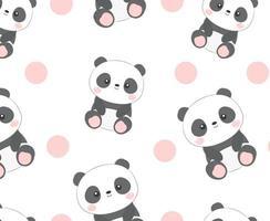 Panda nahtloses Muster