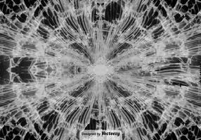 Vektor konsistens av sprickat glas