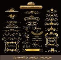 klassische dekorative Linienmuster vektor