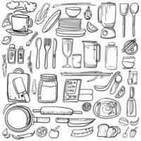 Küche und Zutat vektor