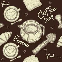 brunt kaffemönster