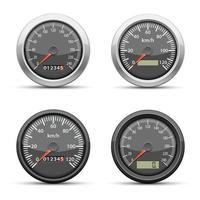 hastighetsmätare isolerad på vit bakgrund