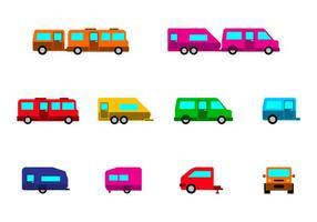 Bright Camper Caravan Icon Vektor