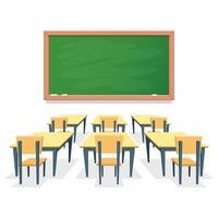 Klassenzimmer isoliert auf weißem Hintergrund vektor