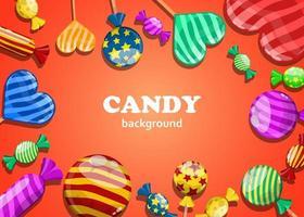 Süßigkeiten Hintergrund Design vektor