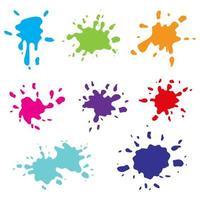 Farbspritzer isoliert auf weißem Hintergrund vektor