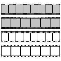 Filmrolle isoliert auf weißem Hintergrund vektor