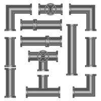 Metallrohre isoliert auf weißem Hintergrund vektor