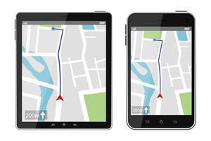 GPS-navigationssystem isolerat på vit bakgrund vektor