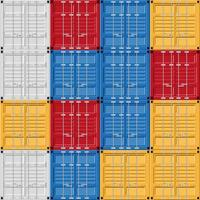 Frachtcontainerset vektor