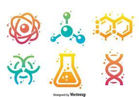 Wissenschaft Gradient Icons vektor